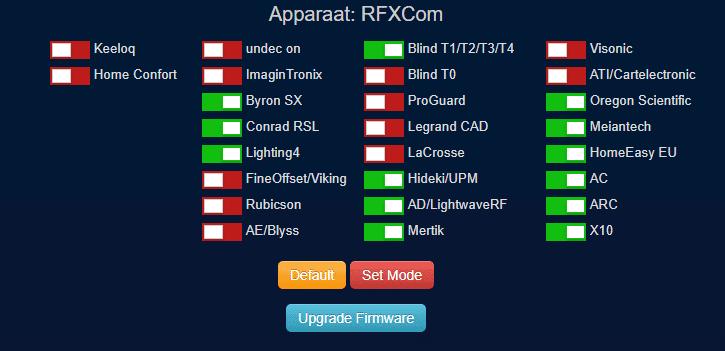 Rfxcom Firmware Upgrade