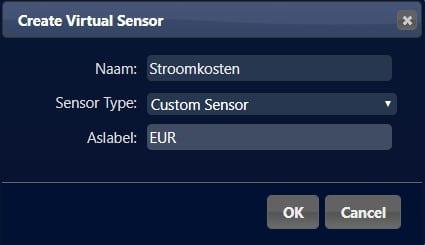 Domoticz Energiekosten Custom Sensor