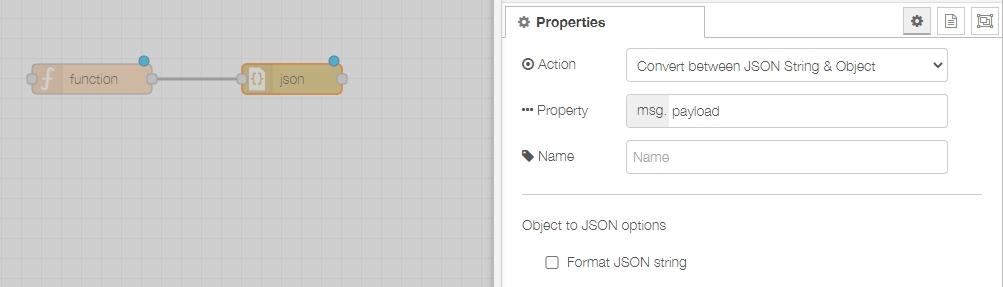 nodered nora json 2